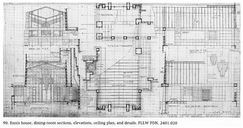 ennis house plan hollyhock house plan numberedtype