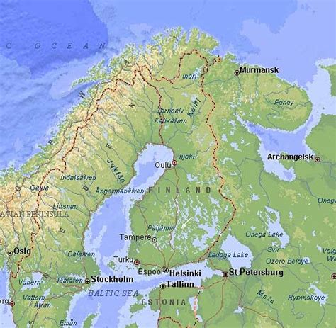 geographical map of finlandacountry geography
