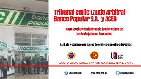 banco popular s a tribunal emite laudo arbitral en el conflicto banco