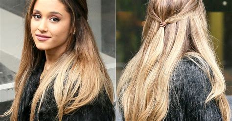 what hair extensions does ariana grande use ariana grande wears low pinned back hairstyle in london