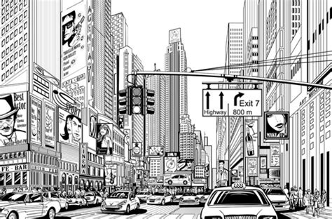 city drawing free vector 90 602 free vector for commercial use format ai eps cdr
