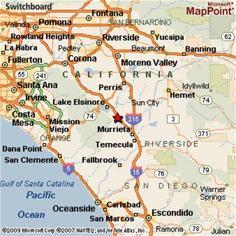 murrieta ca map wildomar california