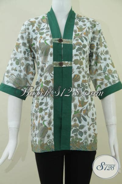 Aneka Dress 95000 toko batik murah batik wanita blus batik wanita pegawai swasta bls946p l toko batik