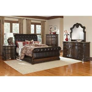 value city furniture beds monticello sleigh bed pecan value city furniture