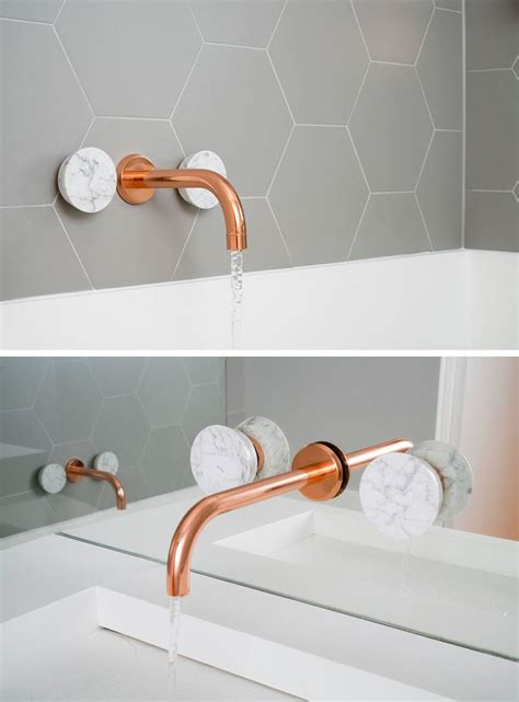 copper bathroom fixtures this bathroom features copper and marble fixtures next to