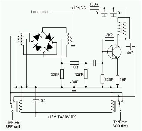 diode mixer schematic receive transmit mixer