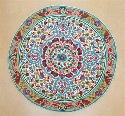 Circular Floor Rugs by 5 Ft Mandala Rug Floral Area Rugs Cool Rugs Circular