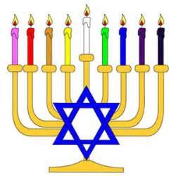 colors of hanukkah ranbow hanukka menorah vector freevectors net