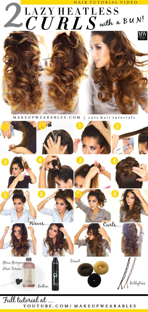 how to curl your hair overnight overnight beach waves pinterest newhairstylesformen2014 com