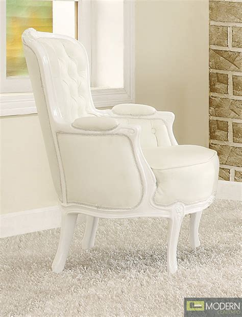 athena white button tufted victorian french style accent arm chair