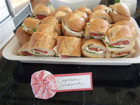 Bridal Shower Sandwich Ideas by Everyday Delights Bridal Shower Food