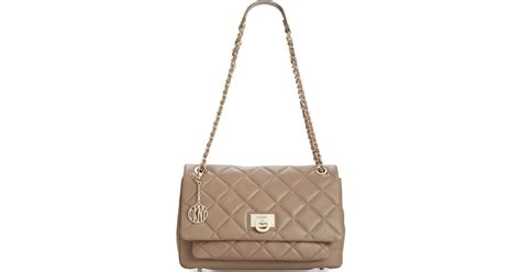 Dkny Quilted Nappa Leather Bag by Dkny Gansevoort Quilted Nappa Leather Large Flap Pocket