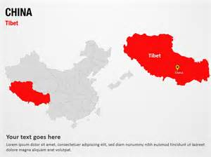 china powerpoint template tibet china powerpoint map slides tibet china map