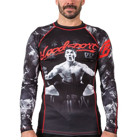 Rashguard Baselayer Compression Spat Manset Bjj No Gi Fitness Run bloodsport rash guard compression shirt fusion fight gear