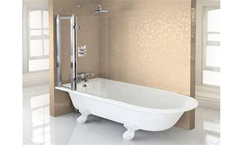 Freestanding baths with shower, shower over freestanding bath. Interior designs Viendoraglass.com
