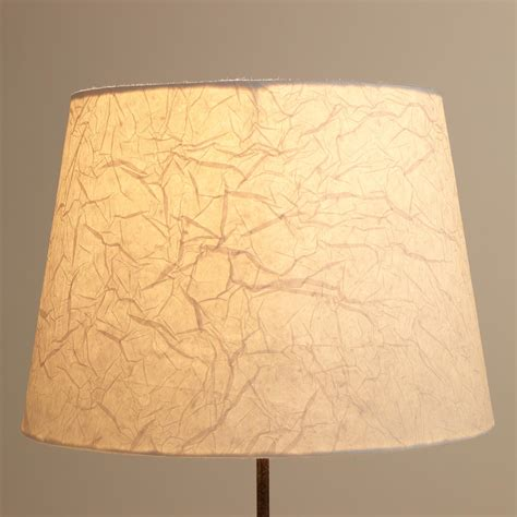 Paper Lshades - crinkled white paper table l shade world market