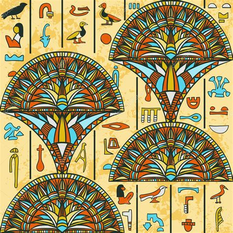 pattern in egyptian art egypt colorful ornament with ancient egyptian hieroglyphs