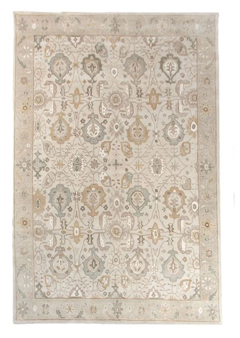 Area Rug 9x12 New Traditional Handmade Wool 9x12 Large Area Rug Carpet Grey Blue