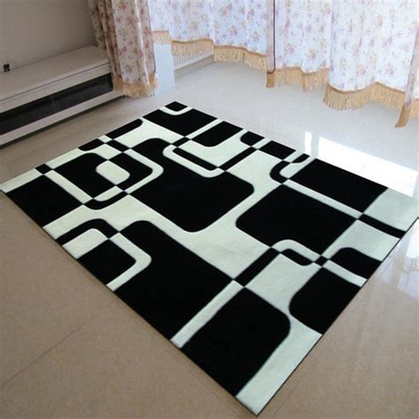 Black Bedroom Rugs by Classical Black And White Carpet Manual Acrylic Living Room Bedroom Carpet Tapis Salon Rug Rugs