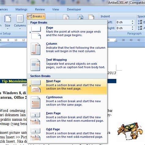 menu page layout adalah mengubah orientasi tabel di word tip dan trik ms word