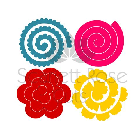 rolled paper flower pattern rolled paper flowers svg 3d templates