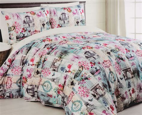 paris bedding paris eiffel tower quilt doona duvet cover set france