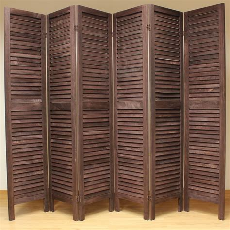 slatted room divider wooden slat room divider screen 6 panel brown brown