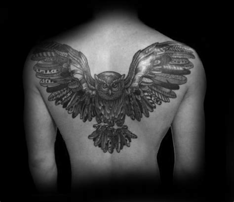 owl tattoo upper back collection of 25 flying owl tattoo on upperback