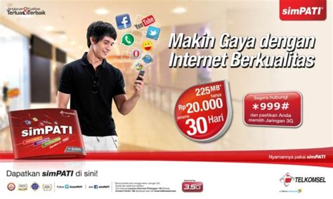 Kartu Perdana Telkomsel Simpati 4g Bisa Paket Murah 30gb65rb daftar harga paket telkomsel simpati flash ultima