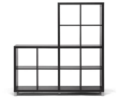 sunna brown modern cube shelving unit transitional