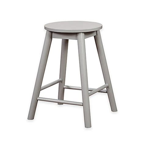 24 inch bar stools backless buy denville 24 inch backless counter stool in grey from