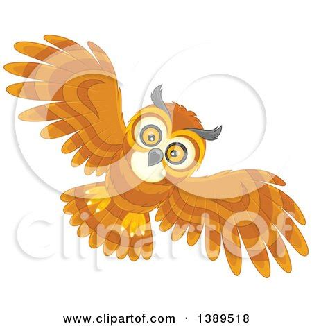 flying owl clipart clipart owl royalty free vector illustration by