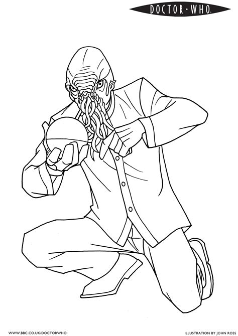 print doctor who coloring pages