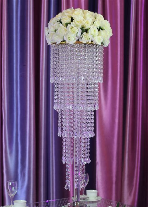 buy cm tall crystal table centerpiece