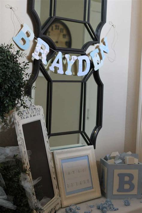 shabby chic boy baby shower party ideas baby shower parties boy babies and baby showers