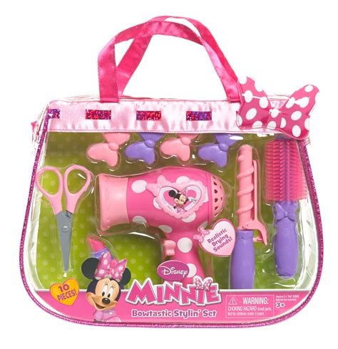 Minnie Mouse Hair Dryer Set disney minnie s bowtastic hairstylist set toys pretend play dress up kitchen