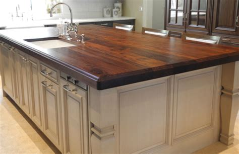 kitchen island with wood top custom wood countertops islands slab tables bar tops