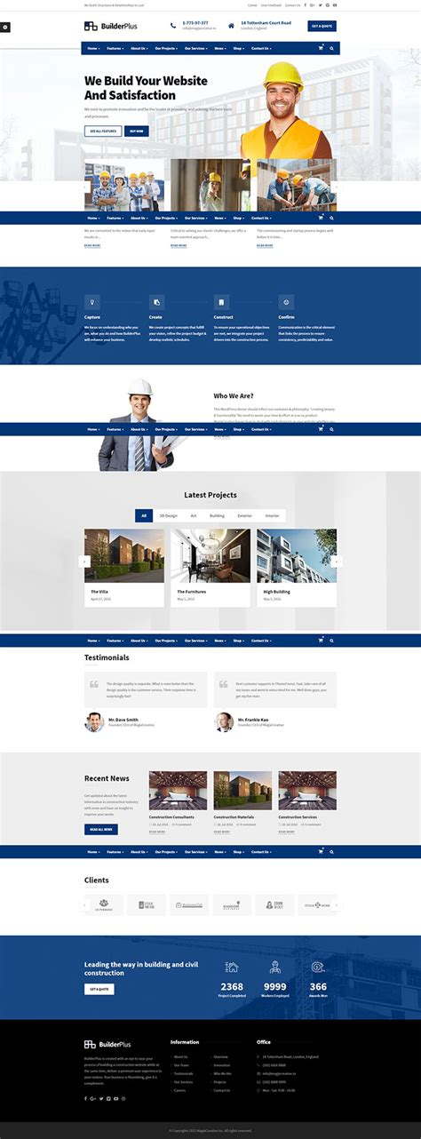 wordpress layout constructor wordpress themes for construction companies webdesigner lab