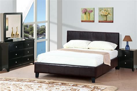 queen size platform bedroom sets leather queen size platform bed in espresso kendrys furniture