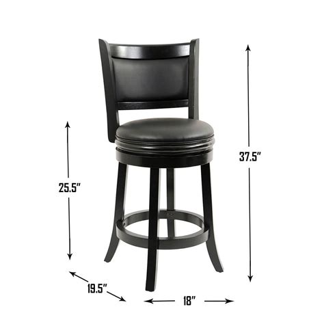 Boraam Augusta 24 In Swivel Counter Stool by Boraam 45824 Augusta Counter Height Swivel Stool 24 Inch