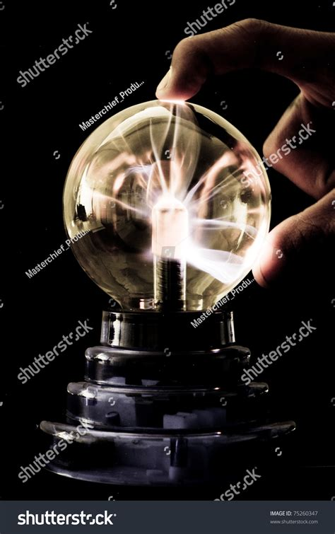 tesla and electricity tesla coil electricity response stock photo 75260347