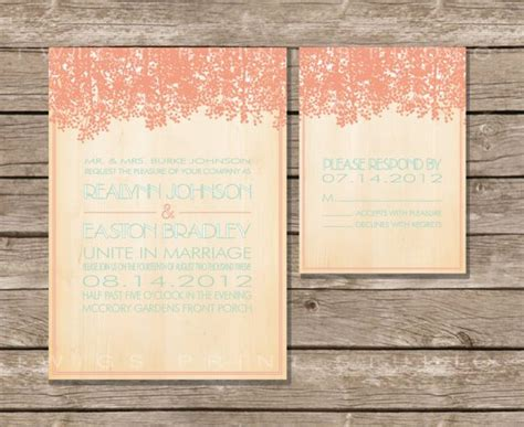 Wedding Invitation Print On Right by Rustic Wedding Invitations On Etsy We Re Obsessing