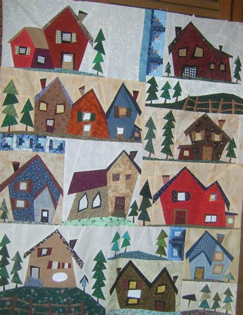 quilt pattern village 17 best images about sulky awesome paper pieced houses on