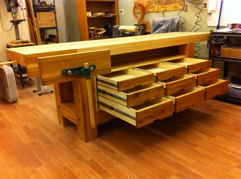 fine woodworking bench workbench monster bombproof not so well kind of finewoodworking