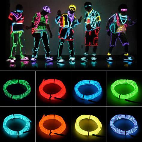 neon light el wire 4 size neon light glow el wire cable