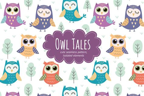 Does Seamless Have Gift Cards - owl tales seamless pattern elements design bundles