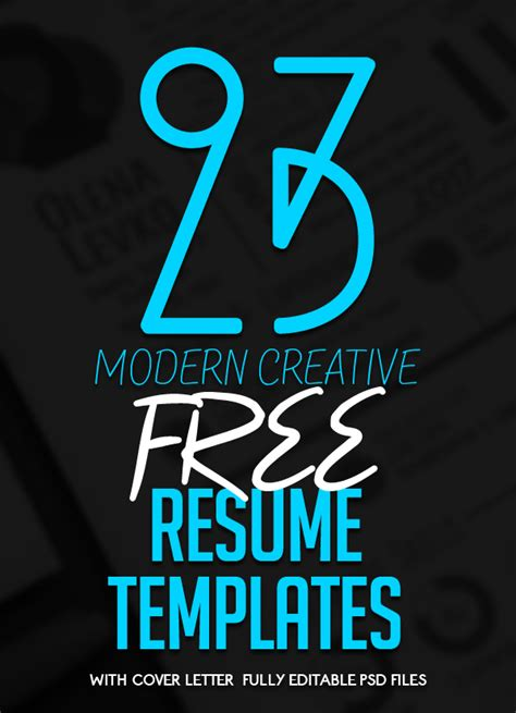 23 Free Creative Resume Templates With Cover Letter Freebies Graphic Design Junction Free Typography Templates