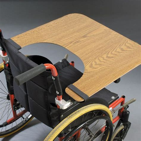 table with velcro wheelchair work tray wood table with velcro ties