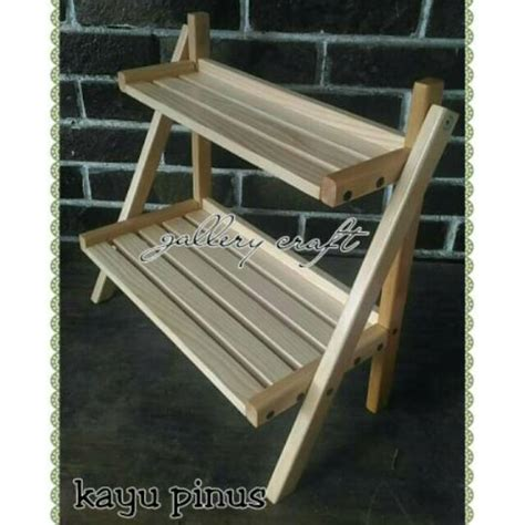 Rak Display Kayu jual rak tangga kayu rak display rak multifungsi