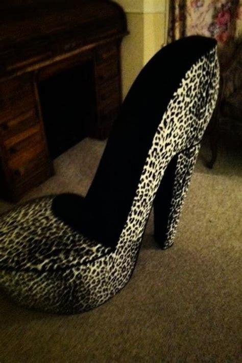 high heel shoe chair leopard print high heel shoe chair my rosemarys